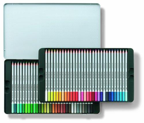 Staedtler Karat Aquarell Premium Watercolor Pencils, Set of 60 Colors (125M60) by STAEDTLER (Image #1)