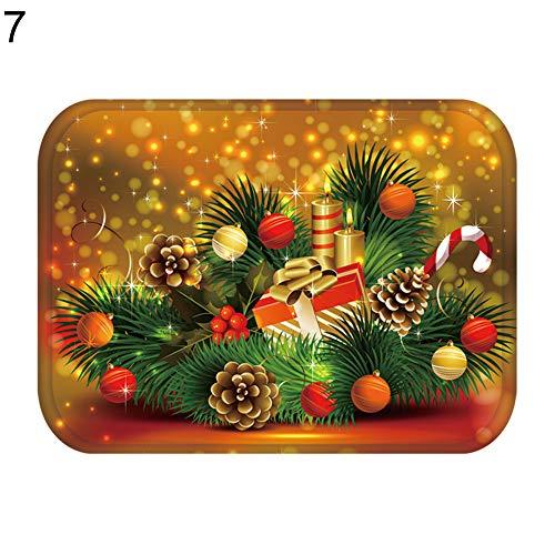 Area Rug Non-Slip Door Mat, Shineweb Christmas Deer Bell Ornament Anti-Slip Door Rug Carpet Floor Living Room Kitchen Hallway Home Decor - 7#