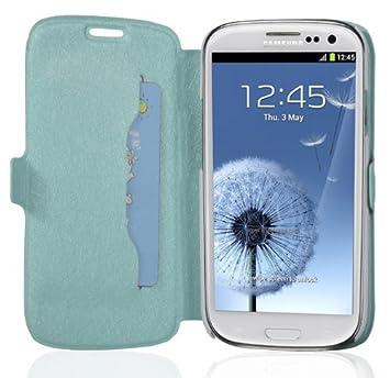Cadorabo - Funda Book Style en Diseño Fino para Samsung Galaxy S3 GT-I9300 – Etui Case Cover Carcasa Caja Protección con Tarjetero y Función de ...