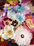 100 Assorted Flower Heads for Crafts - Head Bands - Fairy
