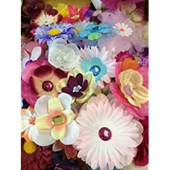 100 assorted flower heads for crafts head for Flower heads for crafts