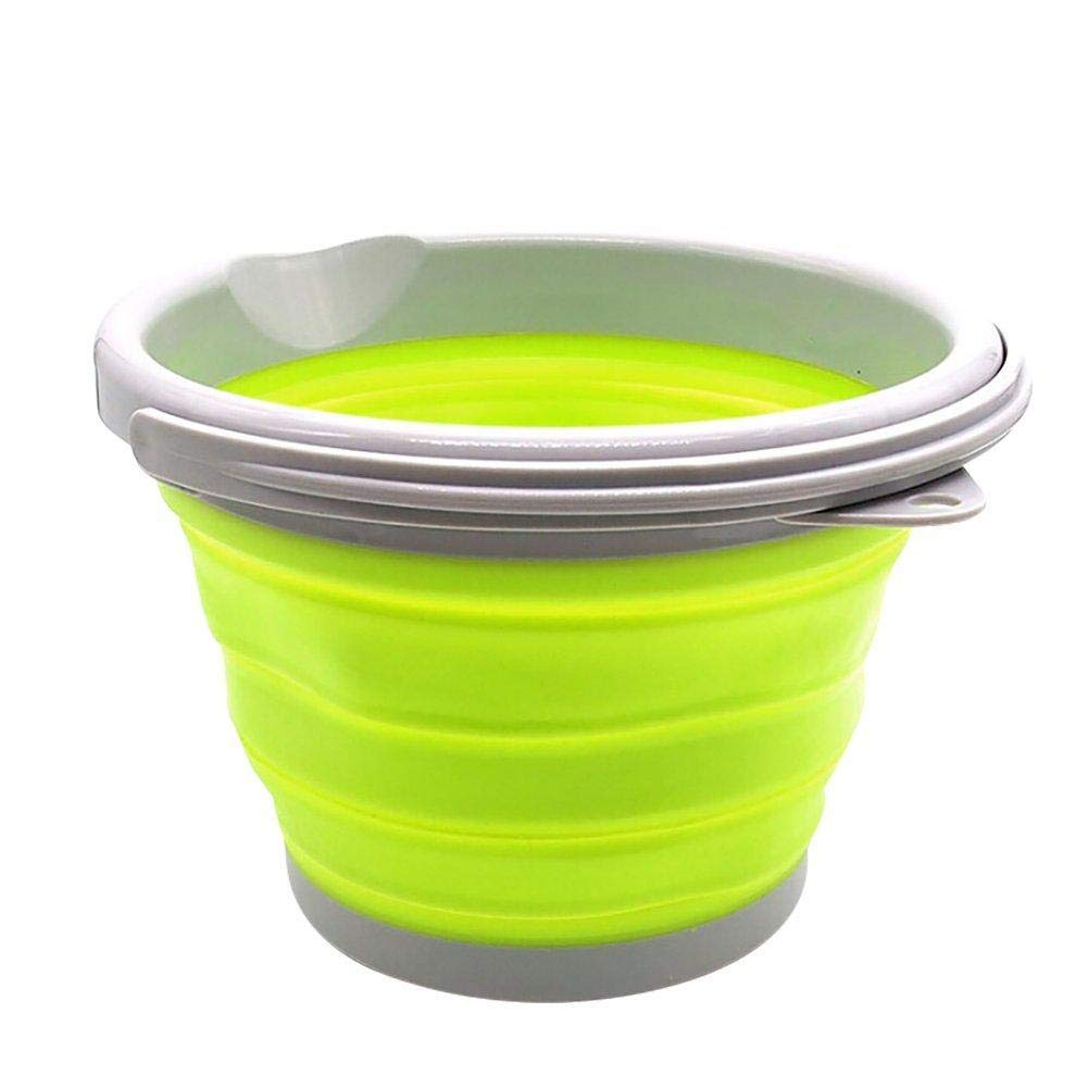 F.S.M. New 5L Folding Water Bucket Silicone Ice Beer Wine Bottle Barrel Pail Container - Green by F.S.M.