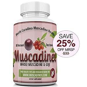 MX3 Eye Health Blend. Goji Zeaxanthin Plus Muscadine Grape Resveratrol. 500mg x 60 Vegetarian Capsules. Made in US Quality.