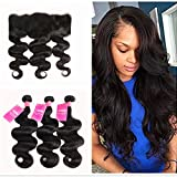 Bleaching Hair Colour Stages - BaiYao Hair Brazilian Body Wave Hair 3 Bundles with Lace Frontal Closure (13×4) Ear to Ear Frontal With Bundles Brazilian Body Wave Frontal Closure Natural Color (18 20 22+16'frontal closure)