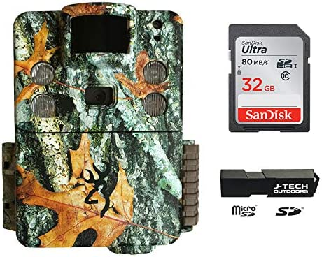 Browning Strike Force HD Pro X 2019 Trail Game Camera Bundle Includes 32GB Memory Card and J-TECH Card Reader 20MP BTC5HDPX
