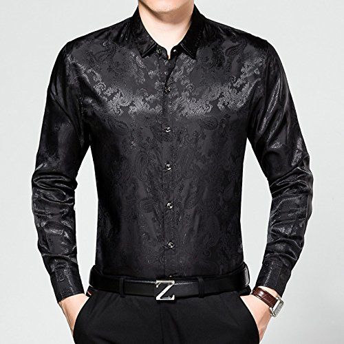 Nvunskd oberhemden Herbst Reine Baumwolle Lange ärmel oberhemden, lässig, oberhemden, Revers Hemden,schwarz,m