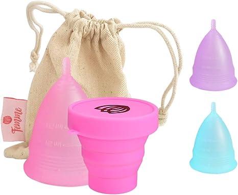 Femme Essentials Copa Menstrual + Caja de Almacenamiento ...