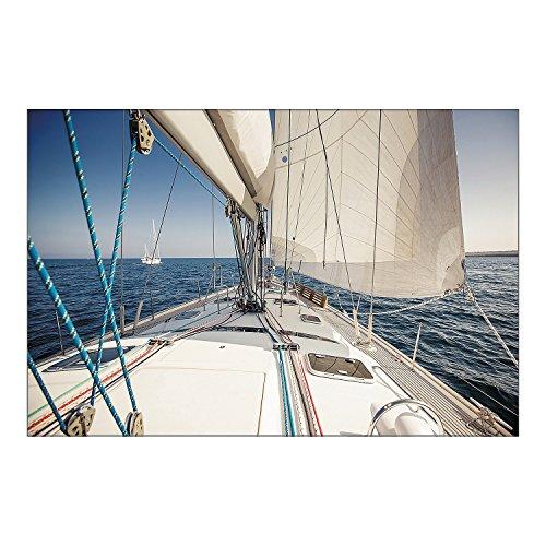Fun Express - Sailboat/yacht Backdrop Banner - Party Decor - Wall Decor - Preprinted Backdrops - 3 Pieces]()