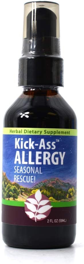 WishGarden Herbs Kick-Ass Allergy - Natural Allergy Relief and Antihistamine for Seasonal Allergies with Nettle Leaf and Yerba Santa, All Natural Herbal Tincture, 2 Ounce