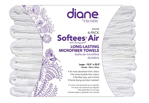 (Diane Softees Air Long-Lasting Microfiber Towels (6 Pack))