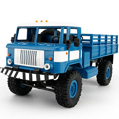 Besde Toy Military Truck Wireless Remote Control Car Toy (blue, WPL B-24 1:16) by Besde