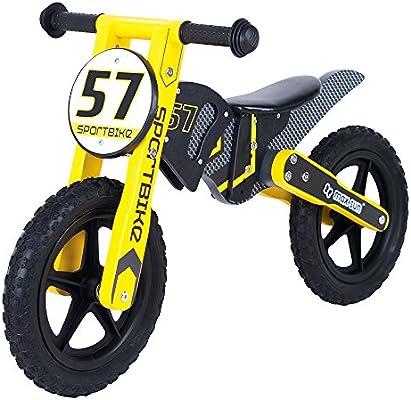 ColorBaby - Moto de motocross de madera y sin pedales - 89 x 40 x ...