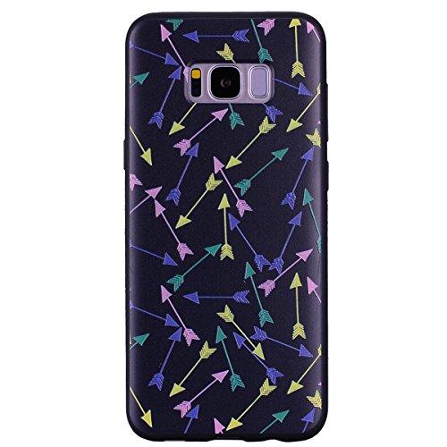 Funda Samsung Galaxy S8 Plus, EUWLY Silicona Carcasas Samsung Galaxy S8 Plus TPU Funda Antigolpes Anti-Rasguño Ultra Slim Cover Soft Case Protectora Estuche Carcasa de TPU Pintada en Relieve Creativa  Flecha colorida