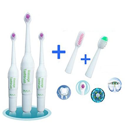 Zantec Cepillo de dientes eléctrico para niños Rotary antideslizante Cepillo de dientes eléctrico resistente al agua