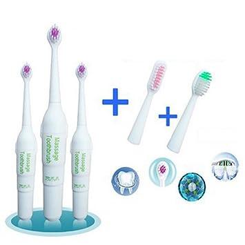 Zantec Cepillo de dientes eléctrico para niños Rotary antideslizante Cepillo de dientes eléctrico resistente al agua con 2 cabezales adicionales Cepillo de ...