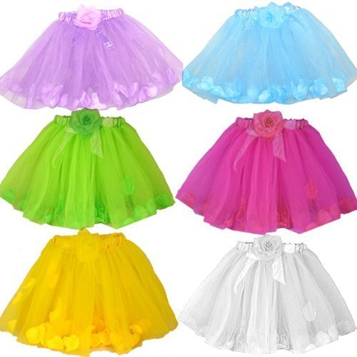 Tutu Assortment - Rose Flower Petal Tutu Assortment (6pc) Fits 3-9