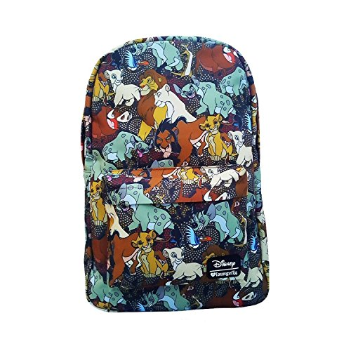 The Lion King Characters All Over Print Backpack by Loungefly