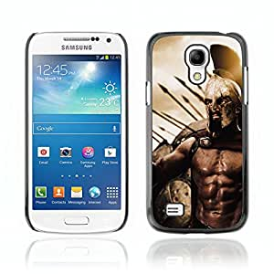 CASETOPIA / Sparta Warrior / Samsung Galaxy S4 Mini i9190 MINI VERSION! / Prima Delgada SLIM Casa Carcasa Funda Case Bandera Cover Armor Shell PC / Aliminium