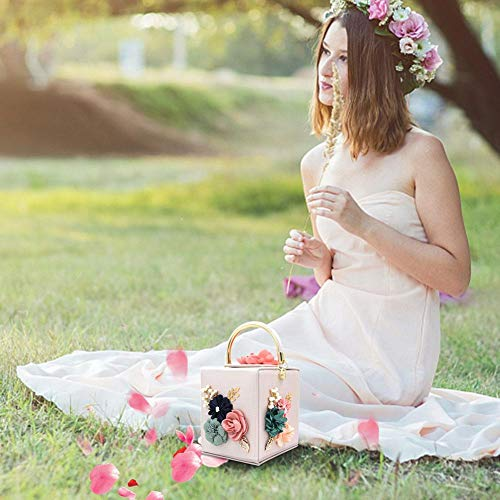 Mujer Aitoco La Mano Por Con Flores Bolsos De Para Noche Bolso Fiesta Segundo rIIRwqHZ