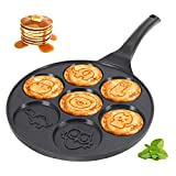 KUTIME Pancake Pan Pancake Griddle with 7
