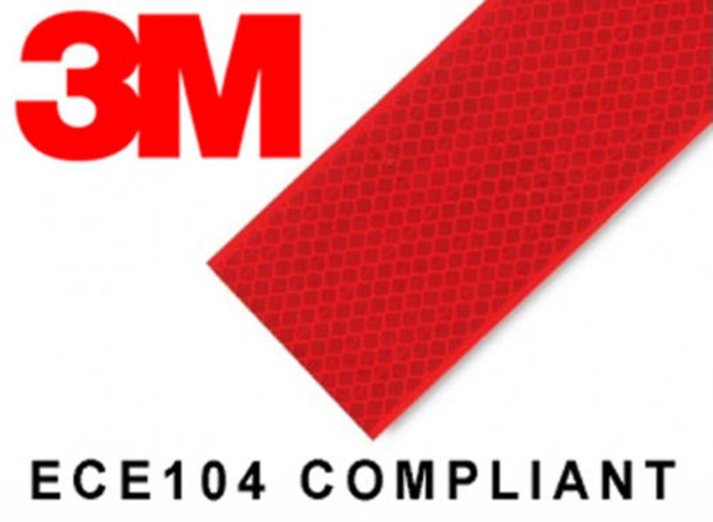 3M High Intensity Reflective Conspicuity Tape- Red, 2 Inch Width X 2 Feet product image
