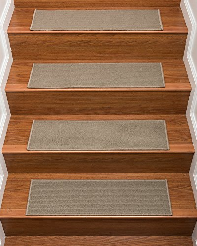 Peace Rug Sisal (NaturalAreaRugs Colby Carpet Stair Treads Set of 13)