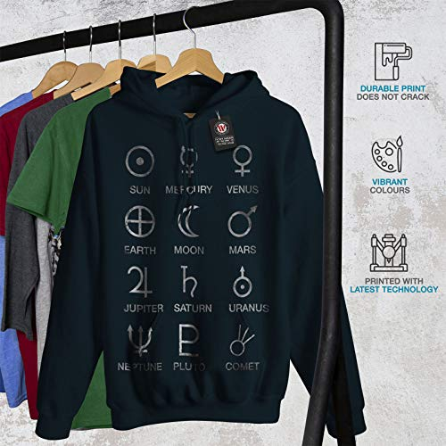 Simboli Cappuccio Donne S Astronomia Felpa 2xl Luna Con Marina Wellcoda dP6w8d