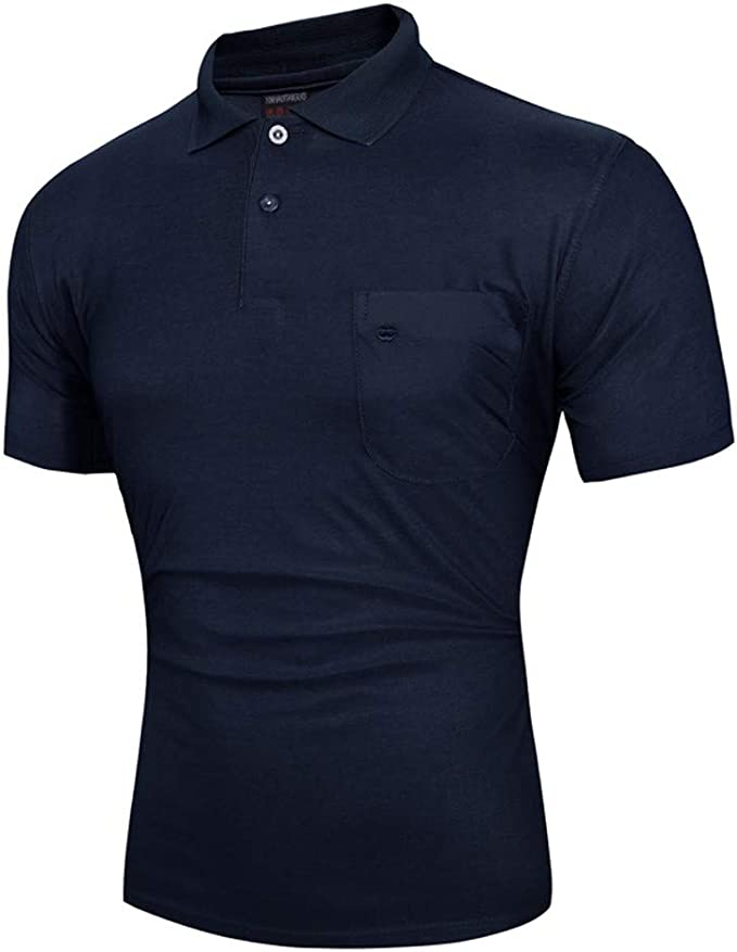 Fashion! Mens Casual Short Sleeve Solid Color T-Shirt Top Blouse for Summer