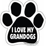 Imagine This Paw Car Magnet, I Love My Grandogs, 5-1/2-Inch by 5-1/2-Inch