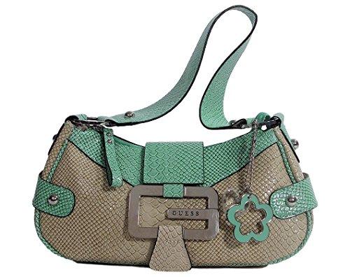 Guess Western Small Hobo Bag Handbag - Mint / Beige