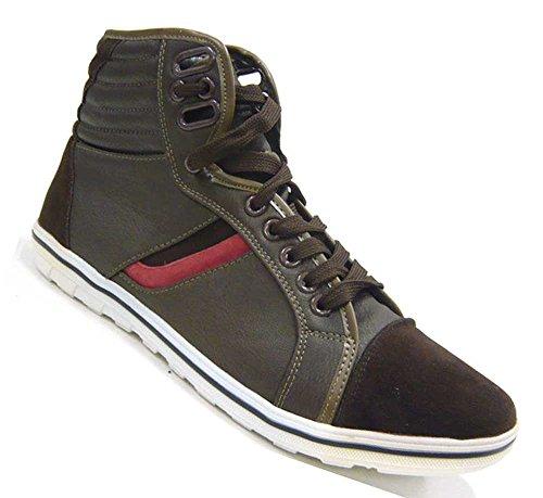 Herren Schuhe Sneaker High Top Stiefelette Khaki