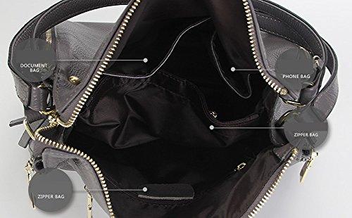 Sac Sac Foncé cuir Sac épaule portés femme à Girl LF E en main fashion 1895 bandoulière Gris tSBOOq