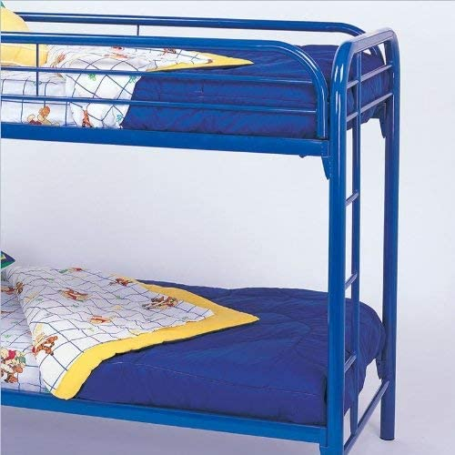 Morgan Twin over Twin Bunk Bed with Built-in Ladders Blue