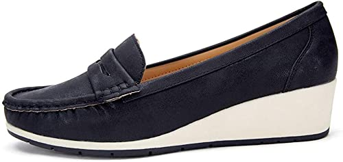 Wedge Loafer Flat Shoes for Women