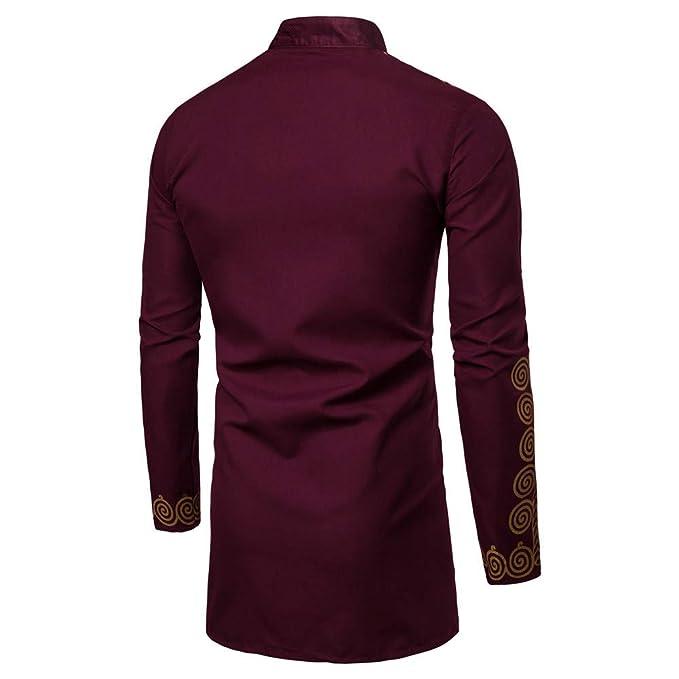 bd9c45ddb9f764 JYJM 2019 männer Herbst Winter Luxus Afrikanischen Print Langarm Dashiki  Shirt Top Bluse Herren T-Shirt Basic Rundhals Slogan Herren T-Shirt mit  Frontprint ...