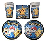 Pokemon Birthday Party Supplies Bundle Pack for 16 Guests