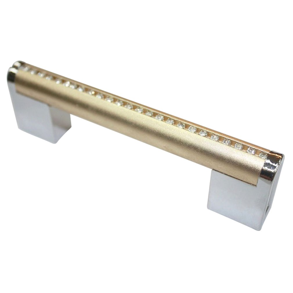 JC Handle Luxury Gold Chrome 96mm Kitchen Door Furniture Cabinet Bar Pulls Pack of 10