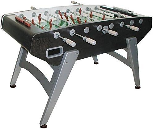 Garlando G-5000 Interior futbolín con Barras telescópicas, con Patas, Abacus puntuación y 10 Bolas de estándar. - 26-7950, Sin Apoyo, Negro: Amazon.es: Deportes y aire libre