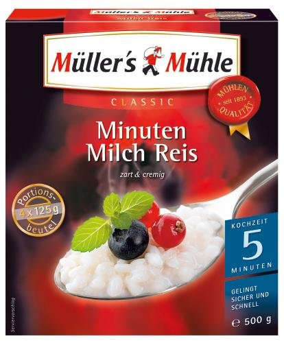 Müller s Molinillo de 5 minutos Leche Arroz, 7 unidades) (7 x