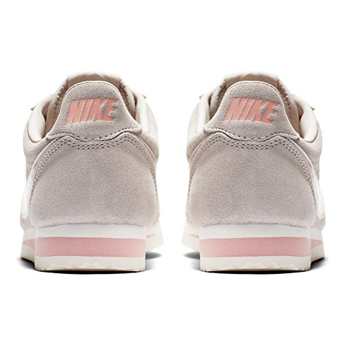 Taille corail Wmns Chaussures 40 Nike Classic Cortez Beige Suede beige 0qx8wfR