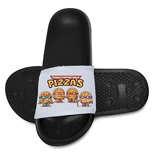 Chengquw Ninja Pizzas Children's Bath Slipper Anti-Slip for Indoor Home House Sandal for $<!--$18.23-->