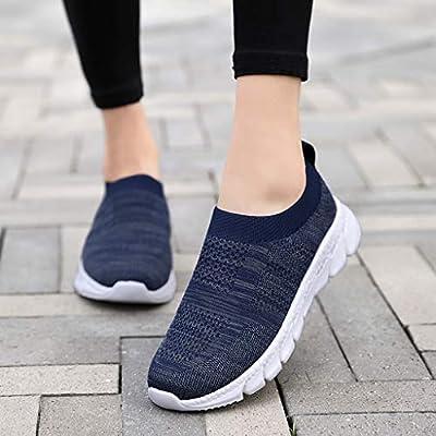 YiYLunneo Women Tennis Shoe Slip on Sneakers Breathable Non-Slip Wear-Resistant Cushion Sneakers Soft Sock Walking Shoe: Clothing