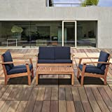 International Home Amazonia 4 Piece Outdoor Sofa
