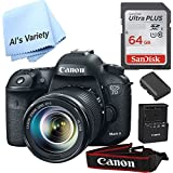 Canon 7D Mark II Digital SLR Camera with EF-S 18-55mm IS STM Lens(Black) with Free SanDisk Ultra 64GB SDHC Class 10 Card