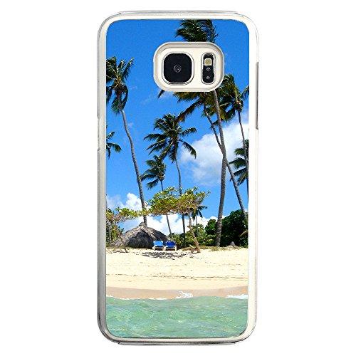 Image Of Dominican Republic Caribbean Tropical Paradise Beach Chairs Samsung Galaxy S7 Edge Clear Phone Case