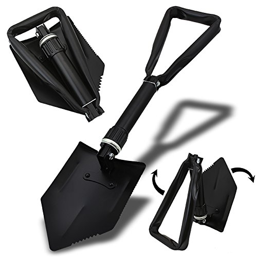 XtremepowerUS 24″ Compact Folding Foldable Shovel Survival Camping Camp Hiking
