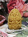 Beeswax Flower Carved Egg Candle (Free USA Shipping)