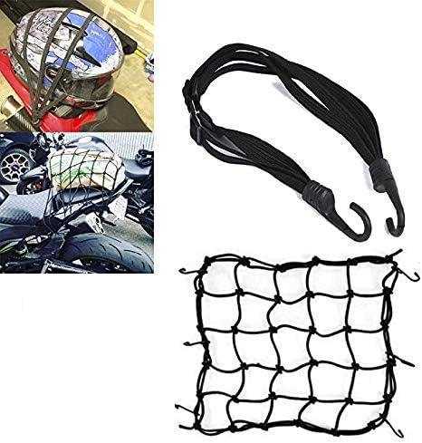 (2PCS) Red Elástica Moto Equipajes Casco y Correa de Casco Cuerda Correa de Carga Moto Pulpo Motocicleta Bicicleta