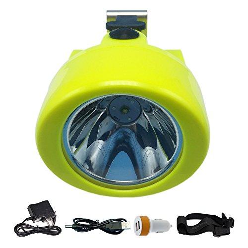 LED Waterproof Headlamp,Adjustable Headlight CREE 10000Lux Head Light 3000mAh Rechargeable Battery Lighting Flashlight Portable Miner Cap Lamp for Helmet Hard Hat Hiking Hunting Fishing Camping Mining -