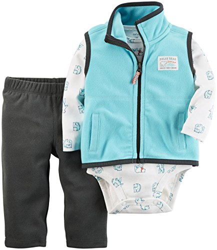 Infant Turquoise Kids Clothing (Carter's Baby Boys' Vest Sets 121g797, Turquoise, 3M)